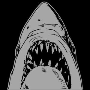 """""""Bruce"""" Great White Shark Vinyl Decal"""