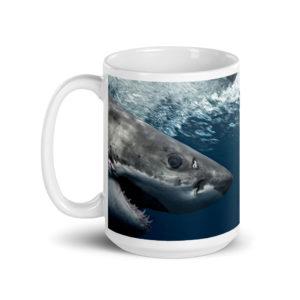 Large 15 oz Coffee Mug – Great White 6046
