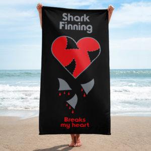 Beach Towel – Shark Finning Breaks My Heart