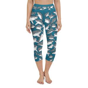 Yoga Capri Leggings – School of Sharks