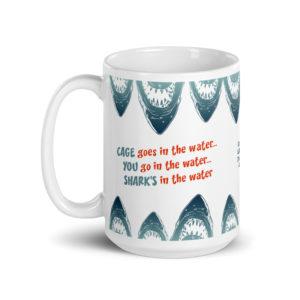 Large 15 oz Coffee Mug – Jaws Shark Cage