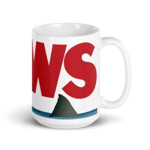 Large 15 oz Coffee Mug – Jaws Fin