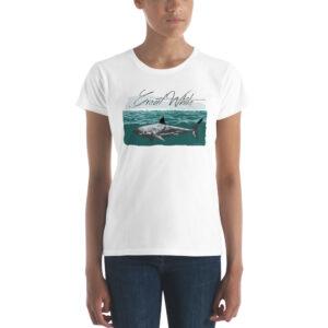 Women's T-Shirt – Great White Teal Beach