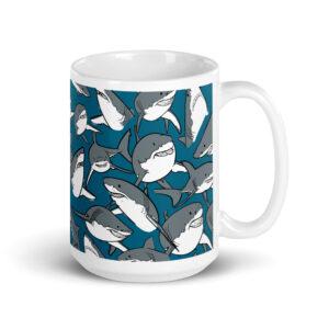 Large 15 oz Coffee Mug – School of Sharks