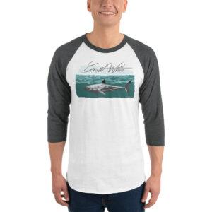 Raglan 3/4 Sleeve – Great White Teal Beach