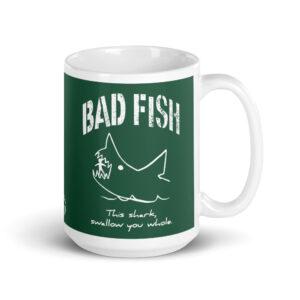 Large 15 oz Coffee Mug – Bad Fish