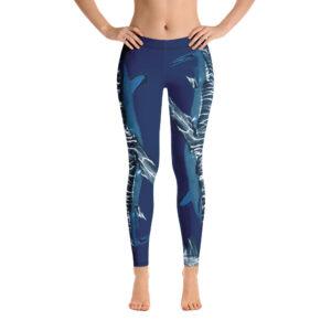 Yoga Leggings – Dark Blue Shark Light