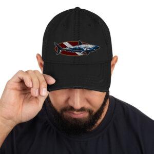 Distressed Hat – Dive Flag Shark